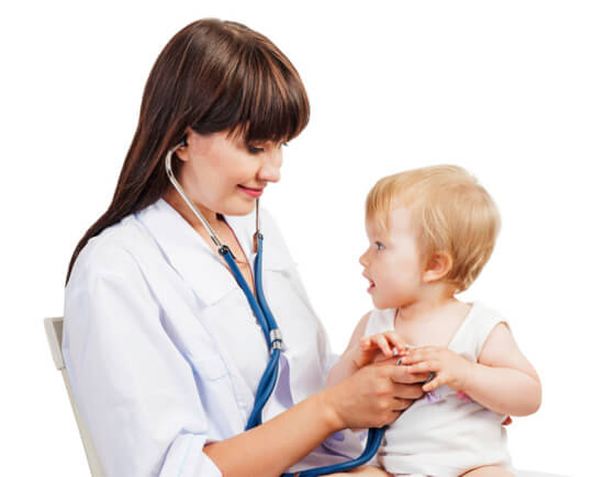 Приём у детского педиатра
