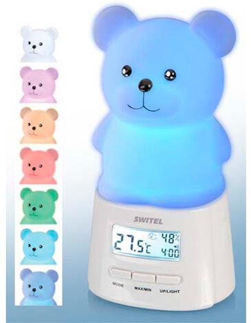 Детский электронный ночник со встроенными термометром и гигрометром