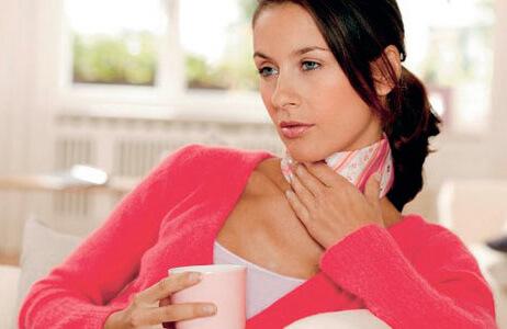 Больное горло и насморк у беременной