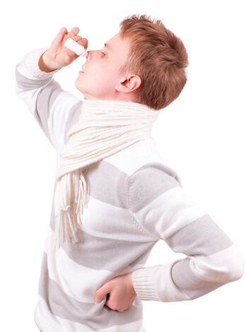 Закапывание носа Нафтизином