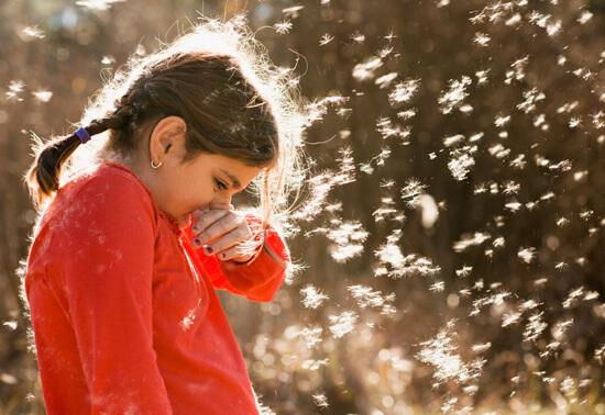 Девочка с аллергическим насморком