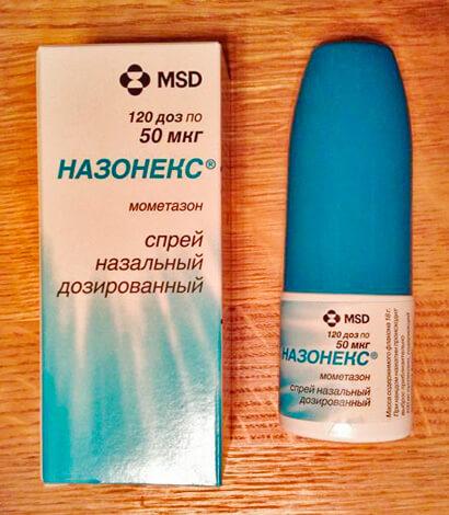 Упаковка и флакон Назонекса