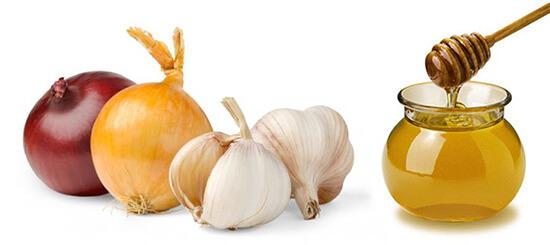 Лук, чеснок и мед