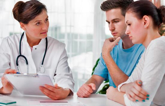 Родители на приеме у врача