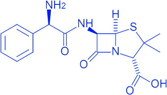 Формула ампициллина