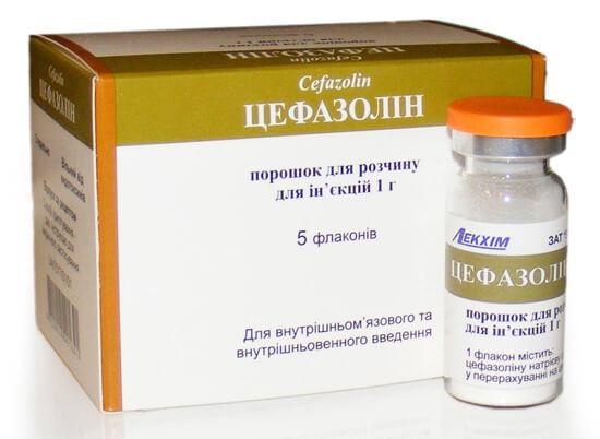 Цефазолин в виде порошка
