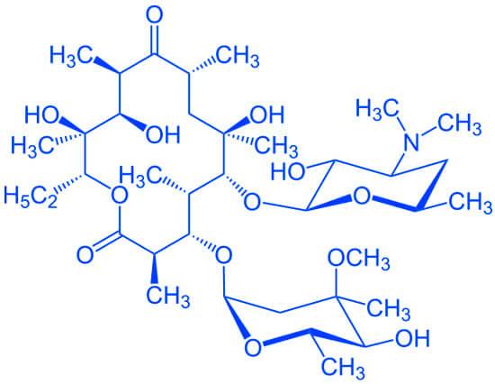 Формула эритромицина