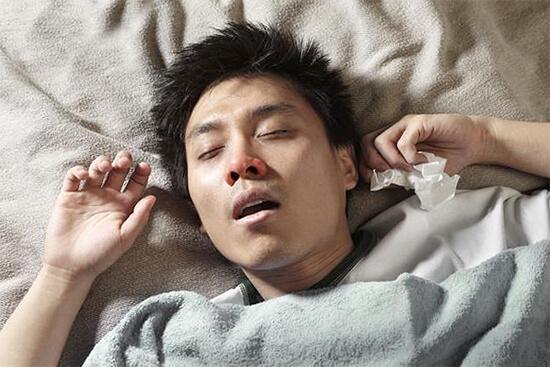 Сон при заложенности носа