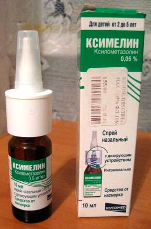 Спрей Ксимелин позволяет на время устранить заложенность носа