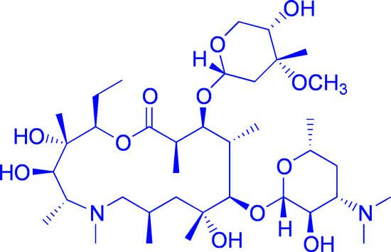 Благодаря отсутствию бета-лактамного кольца азитромицин оказывается устойчив к действию бактериальных ферментов.