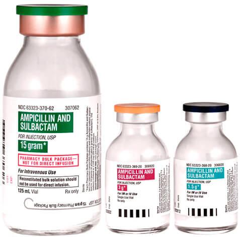 Сультамициллин оказывается эффективным в случаях, когда бактерии устойчивы к самому ампициллину. Однако он имеет недостаток перед Аугменином в том, что он достаточно эффективен только при внутримышечном введении.