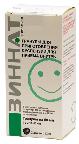 Препарат на основе цефуроксима, антибиотика класса цефалоспоринов, применяемый для лечения стрептококковой ангины.
