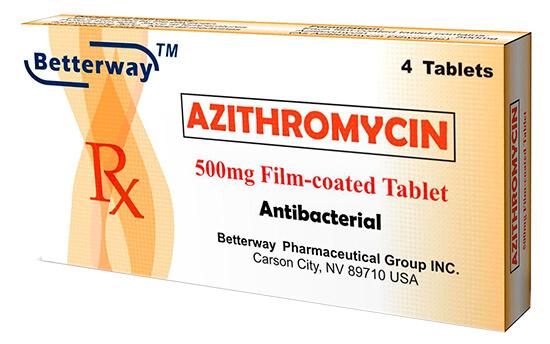 Оптимальная длительность курса лечения азитромицином составляет пять дней; при таком режиме приема менее вероятны побочные действия.