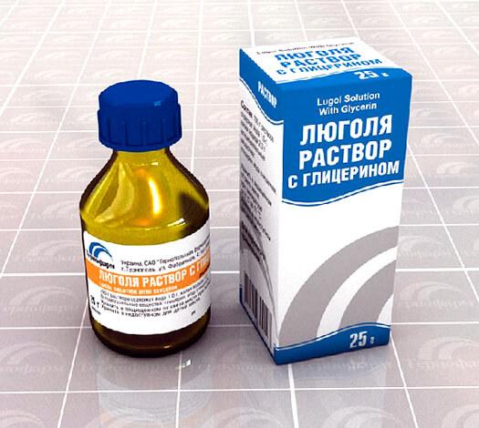 Раствор Люголя - древнее и практически бесполезное при ангине антисептическое средство.