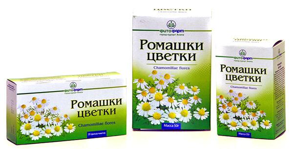 Не важно, в каком виде покупаются цветы ромашки. Важно, чтобы для полоскания использовался водяной отвар их.