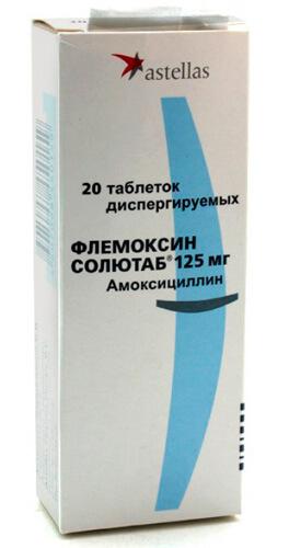 Флемоксин Солютаб - водорастворимые таблетки на основе амоксициллина.