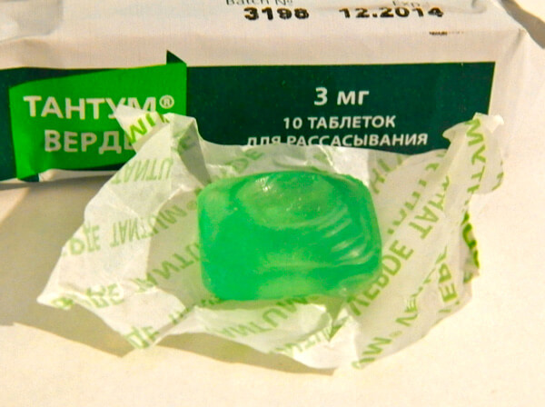 Таблетку Тантум Верде необходимо держать во рту до полного рассасывания.