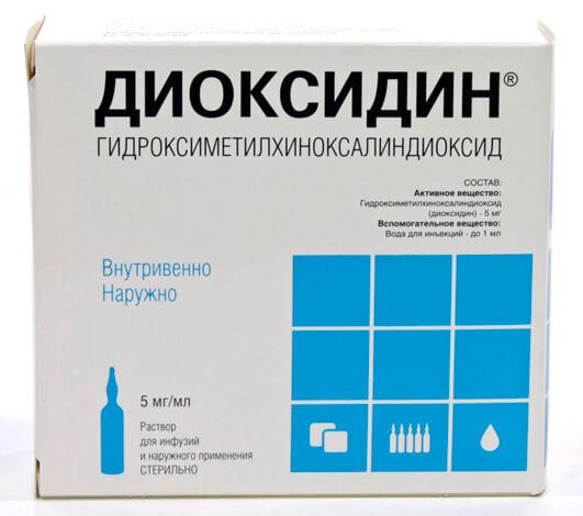 Для полоскания раствор для инъекций из одной ампулы выливают в один стакан воды.