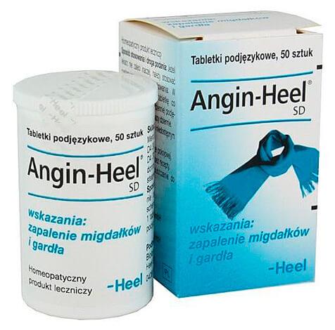 Упаковка Ангин-Хель и баночка с таблетками.