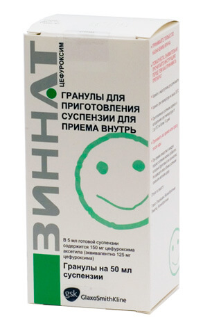 Действующее вещество Зинната - антибиотик цефуроксим, один из немногих, применяемых перорально.