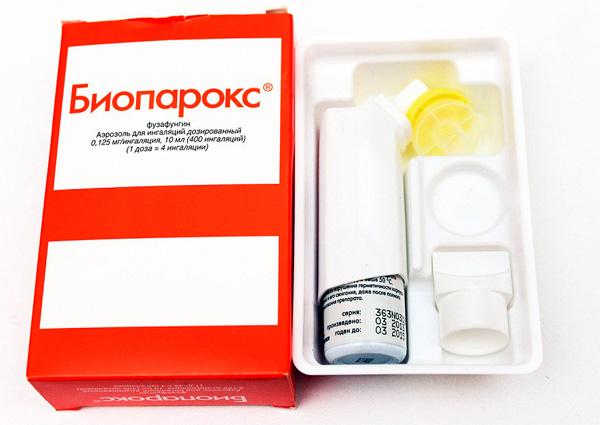 Биопарокс: упаковка, флакон с распылителем, насадки
