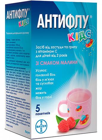 В состав Антифлу Кидс входят те же компоненты, что и в состав детского Антигриппина.