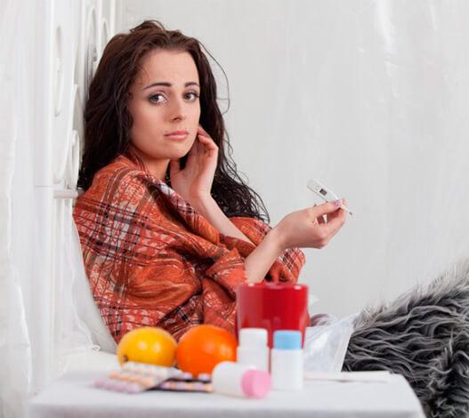 Беременная с гриппом