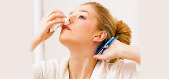 Процедуры запрещены при носовых кровотечениях