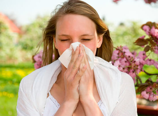 Сенная лихорадка часто приводит к развитию ринита.