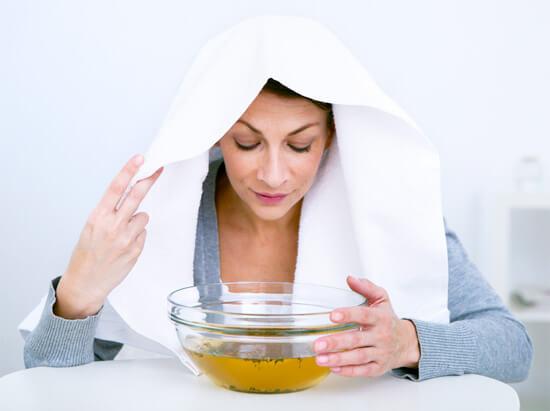 Лечение насморка паровой ингаляцией