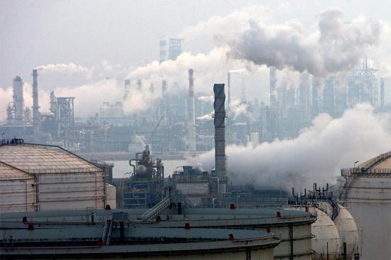 Смог в индустриальном городе