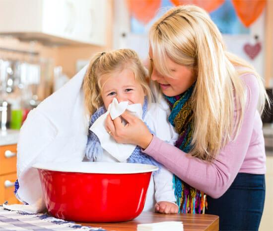 Ингаляции для маленького ребенка