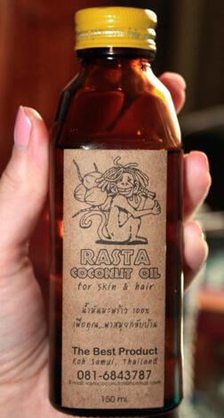Бутылка с кокосовым маслом