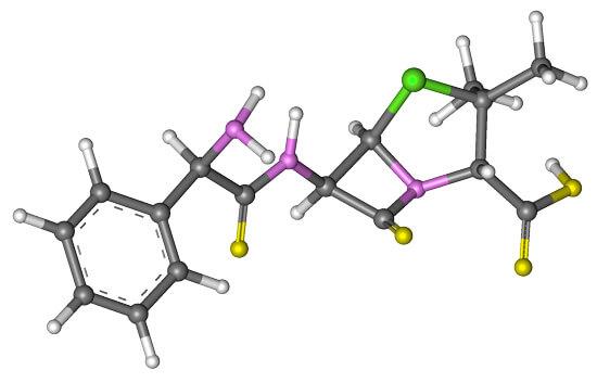 Молекула ампициллина