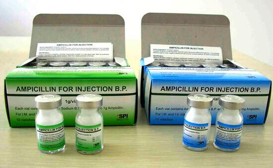 Ампулы ампициллина