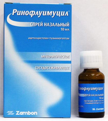 Ринофлуимуцил — комбинированный лекарственный препарат, применяемый при ринитах и синуситах.