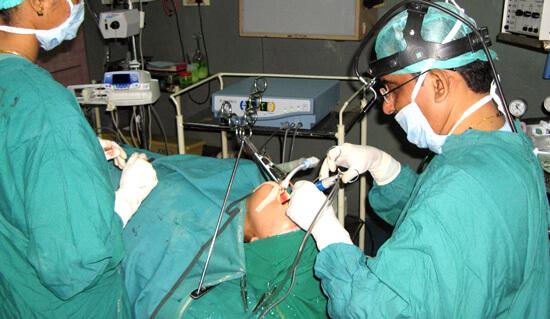 Операция при ангине
