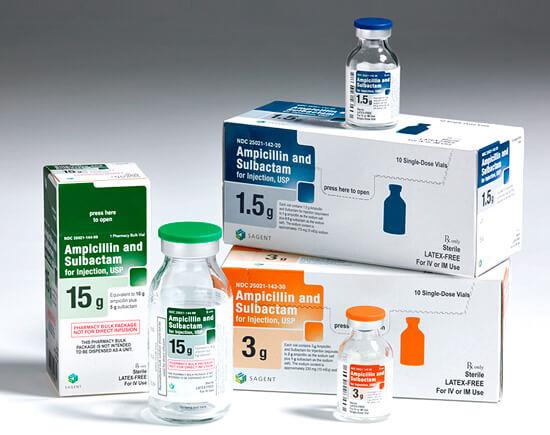 Ампициллин вводится в организм внутримышечно из-за низкой биодоступности его при пероральном приеме.