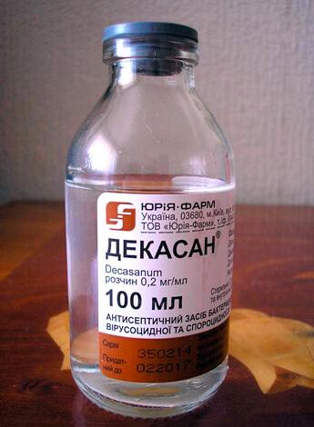 Декасан - хороший антисептик, но бесполезое средство для полосканий горла при ангине.