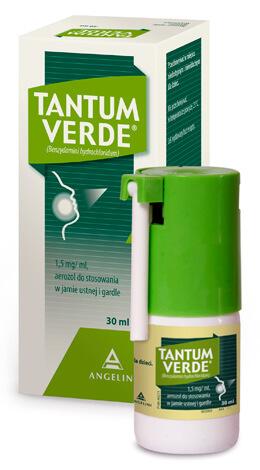 Помимо спрея при ангине можно применять раствор для полоскания и леденцы Тантум Верде.